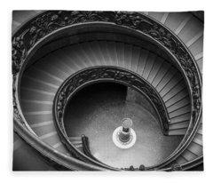 Vatican Stairs Fleece Blanket