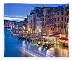 Venetian Blue Fleece Blanket