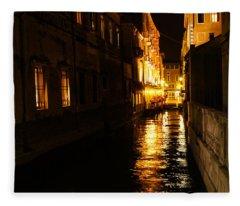 Venetian Golden Glow Fleece Blanket