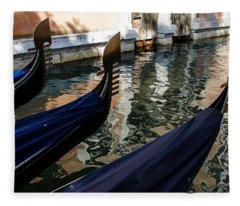 Venetian Gondolas Fleece Blanket