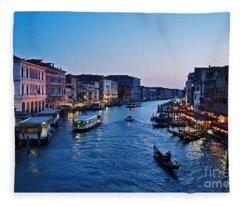 Venezia - Il Gran Canale Fleece Blanket