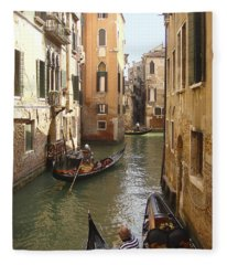 Venice Gondolas Fleece Blanket