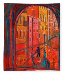 Venice Impression Viii Fleece Blanket