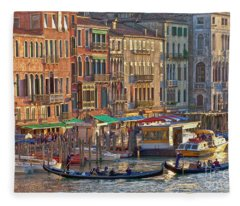 Venice Palazzi At Sundown Fleece Blanket