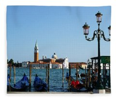 Venice View On Basilica Di San Giorgio Maggiore Fleece Blanket