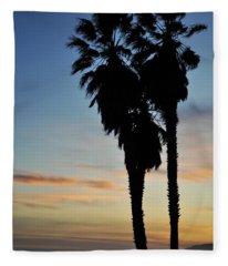 Ventura Palm Sunset Fleece Blanket