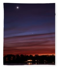 Venus And Mercury Fleece Blanket