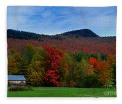 Vermont Barn Fleece Blanket