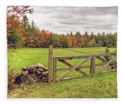 Vermont Countryside Fleece Blanket