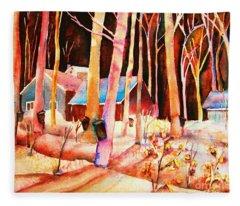 Vermont Maple Syrup Fleece Blanket