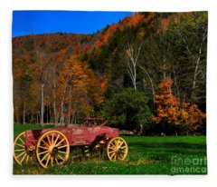 Vermont Wagon Fleece Blanket