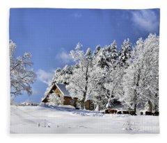 Vermont Winter Beauty Fleece Blanket