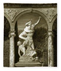 Versailles Colonnade And Sculpture Fleece Blanket