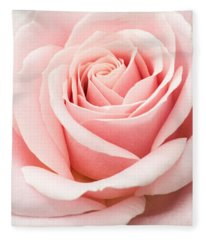 Vertical Pink Rose Fleece Blanket