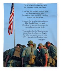 Veterans Remember Fleece Blanket