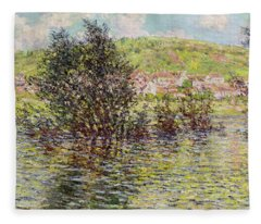 Vetheuil, View From Lavacourt, 1879 Oil On Canvas Fleece Blanket