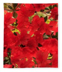 Vibrant Azalea Fleece Blanket