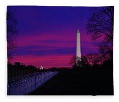 Vietnam Memorial Sunrise Fleece Blanket