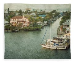 View At Fort Myers Beach - Florida Fleece Blanket