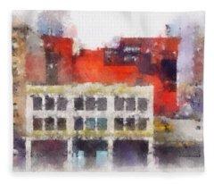 View From A New York Window Fleece Blanket