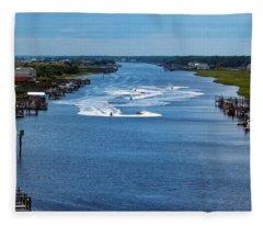 View From Bridge Fleece Blanket
