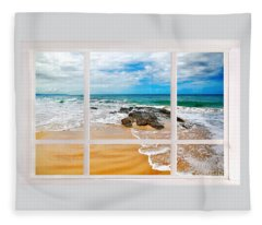 View From My Beach House Window Fleece Blanket