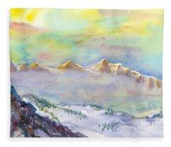 View From Snowbird Fleece Blanket