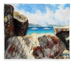 View Of Devil's Bay Fleece Blanket