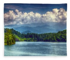 View From The Great Smoky Mountains Railroad Fleece Blanket