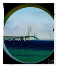 View From The Mackinac Light Fleece Blanket