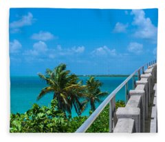View From The Old Bahia Honda Bridge Fleece Blanket