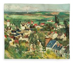 View Of Auvers From Above Fleece Blanket