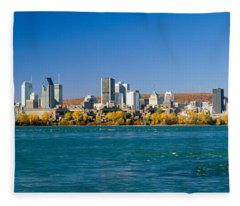 View Of Montreal Skyline And The Saint Fleece Blanket