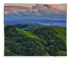 View Of Morro Bay Fleece Blanket