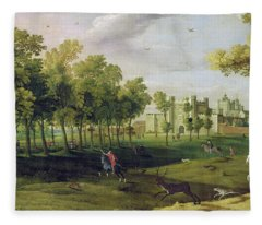 View Of Nonsuch Palace In The Time Fleece Blanket