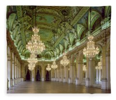 View Of The Grande Salle Des Fetes Fleece Blanket