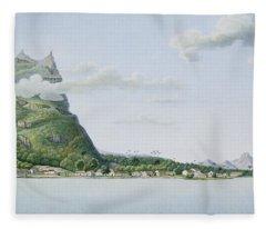 View Of The Island Of Bora Bora Fleece Blanket