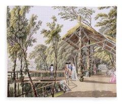 View Of The Reisenberg Gardens Fleece Blanket