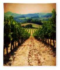 Vigneto Toscana Fleece Blanket