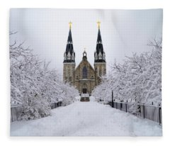 Villanova University In The Snow Fleece Blanket