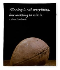 Fleece Blanket featuring the photograph Vince Lombardi On Winning by Edward Fielding