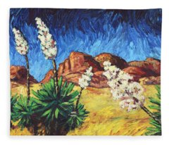 Vincent In Arizona Fleece Blanket