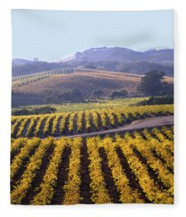 6b6386-vineyard In Autumn Fleece Blanket
