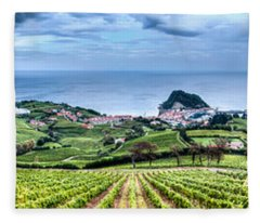 Vineyards By The Sea Fleece Blanket