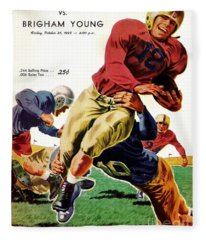Vintage American Football Poster Fleece Blanket