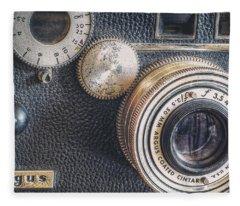Vintage Argus C3 35mm Film Camera Fleece Blanket