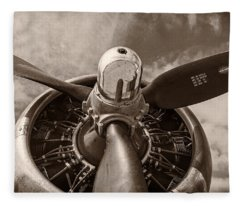 Vintage B-17 Fleece Blanket