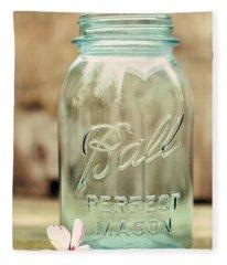 Vintage Ball Mason  Fleece Blanket