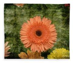 Vintage Blooms Fleece Blanket