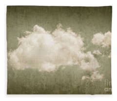 Vintage Clouds Background Fleece Blanket